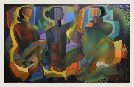 Выставка живописи Зазы Харабадзе «Солнечный край».