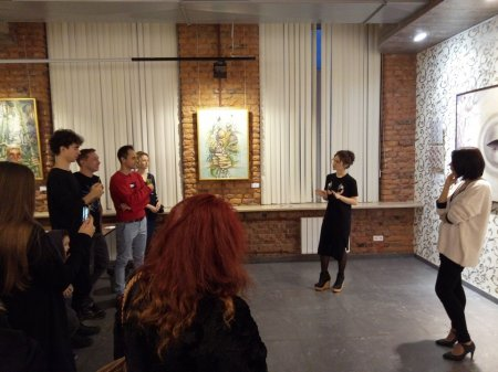 Вернисаж выставки Альбины Буниной «Тёмная сторона сада».